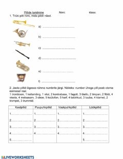 Interactive worksheet Pillid