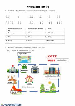Interactive worksheet Writing TEST
