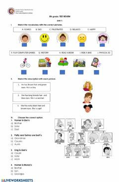 Interactive worksheet Unit 1 5th grade