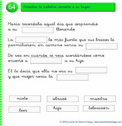 Interactive worksheet Completa el relato