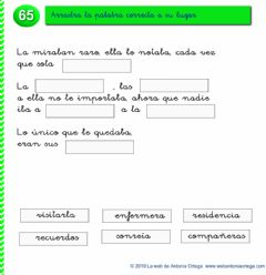 Interactive worksheet Completa el texto