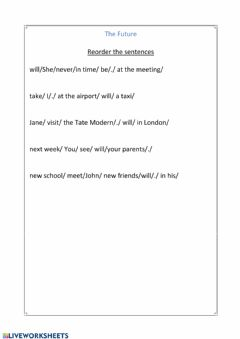 Interactive worksheet Will