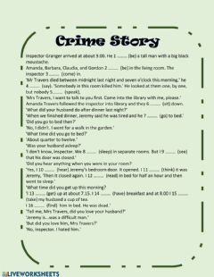 Interactive worksheet Crime Story