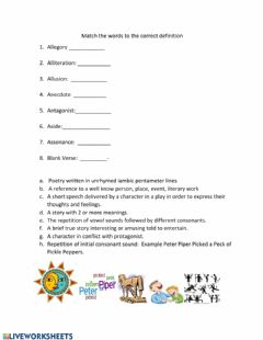 Interactive worksheet Vocabulary Review Eng. I