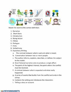 Interactive worksheet EOC English 1 Terms Practice