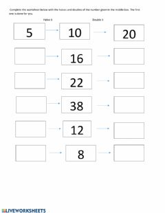 Ficha interactiva Maths worksheet