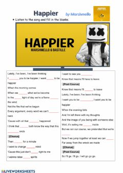 Interactive worksheet Happier by Mashmello