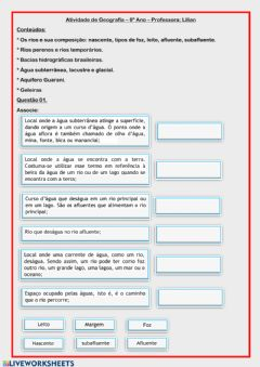 Interactive worksheet Geografia 6º Ano