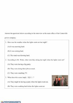 Interactive worksheet Past Continuous Tense 03