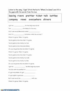 "Interactive worksheet Cups (Pitch Perfect's ""When I'm Gone"")"