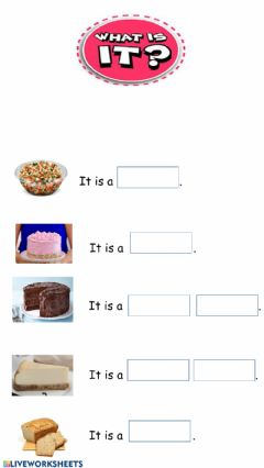 Interactive worksheet What is it- food