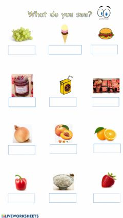 Interactive worksheet Food and drinks -3
