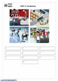 Interactive worksheet 6th Unit 2 vocabulary