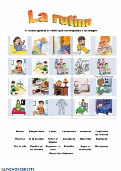 Interactive worksheet La rutina