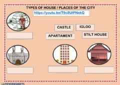 Interactive worksheet Types of the house