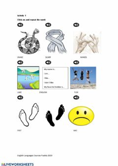 Ficha interactiva Vocabulary Activity3