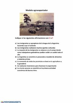 Interactive worksheet Agroexportacion