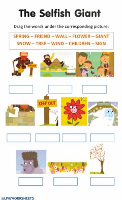 Interactive worksheet The Selfish giant