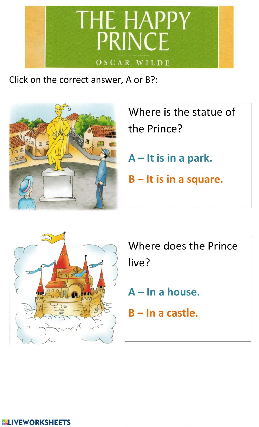The Happy Prince 2 - Interactive worksheet