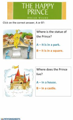 Interactive worksheet The Happy Prince 2
