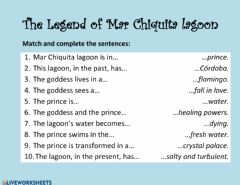 Interactive worksheet The legend of Mar Chiquita lagoon