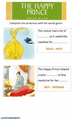 Interactive worksheet The Happy Prince 3