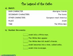 Interactive worksheet The legend of Ceibo
