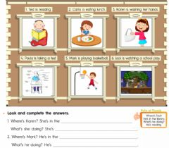 Interactive worksheet Where + verb to be