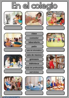 Interactive worksheet En el colegio