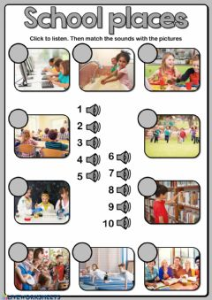 Ficha interactiva School places - Listening