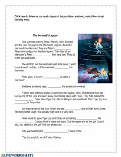 Interactive worksheet Peter Pan Chapter 4