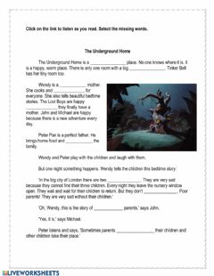 Interactive worksheet Peter Pan Chapter 5
