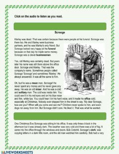 Interactive worksheet A Christmas Carol - Chapter 1