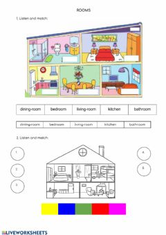 Interactive worksheet Rooms