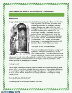 Interactive worksheet A Christmas Carol - Chapter 2