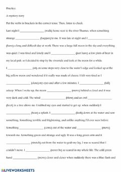 Interactive worksheet Mystery Story