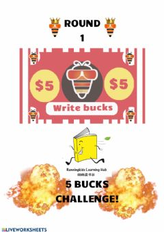 Interactive worksheet P1 5 bucks challenge