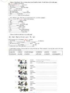 Verb To be (affirmative and negative) worksheet preview
