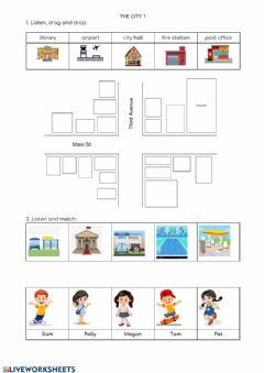 Interactive worksheet The City 1