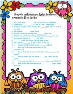 Interactive worksheet Write pronouns