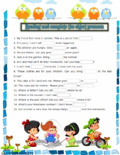 Ficha interactiva Reading and complete