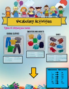 Interactive worksheet Vocabulary activities