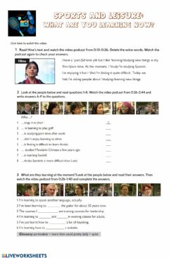 Interactive worksheet Sports and leisure listening