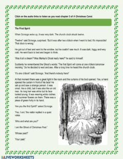 Interactive worksheet A Christmas Carol - Chapter 3