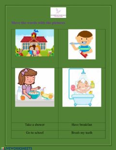 Interactive worksheet Basic verbs in simple present for kids