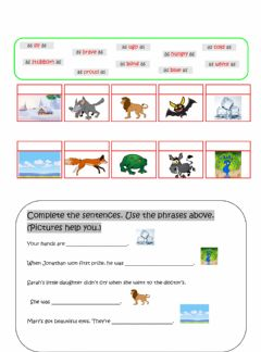 Interactive worksheet As...as in comparative