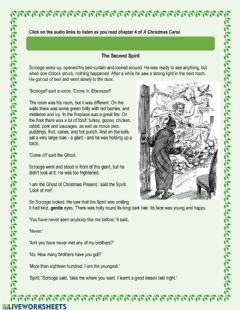 Interactive worksheet A Christmas Carol - Chapter 4