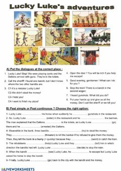 Interactive worksheet Lucky Luke