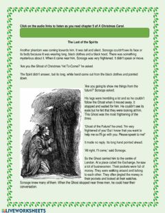 Interactive worksheet A Christmas Carol - Chapter 5