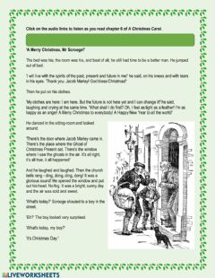 Interactive worksheet A Christmas Carol - Chapter 6